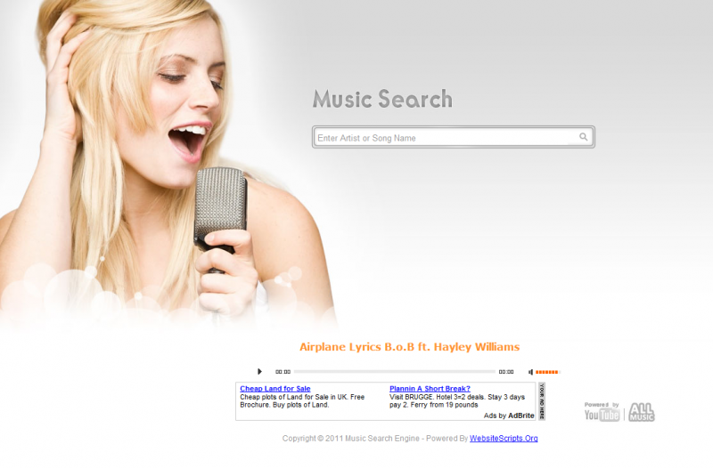free music search engine for mp3 and lyrics